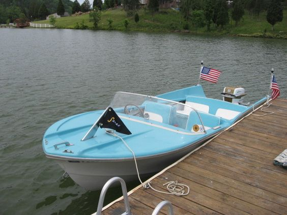 1958 Sabre Speedster Fiberglass Classic Vintage Outboard Boat With Fins In Powerboats Motorboats