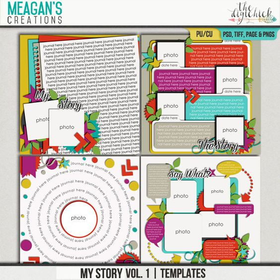 Sometimes your layouts need to tell a story, the whole story. My Story Vol. 1 templates from Meagan's Creations are designed to let you do just that, tell everything.