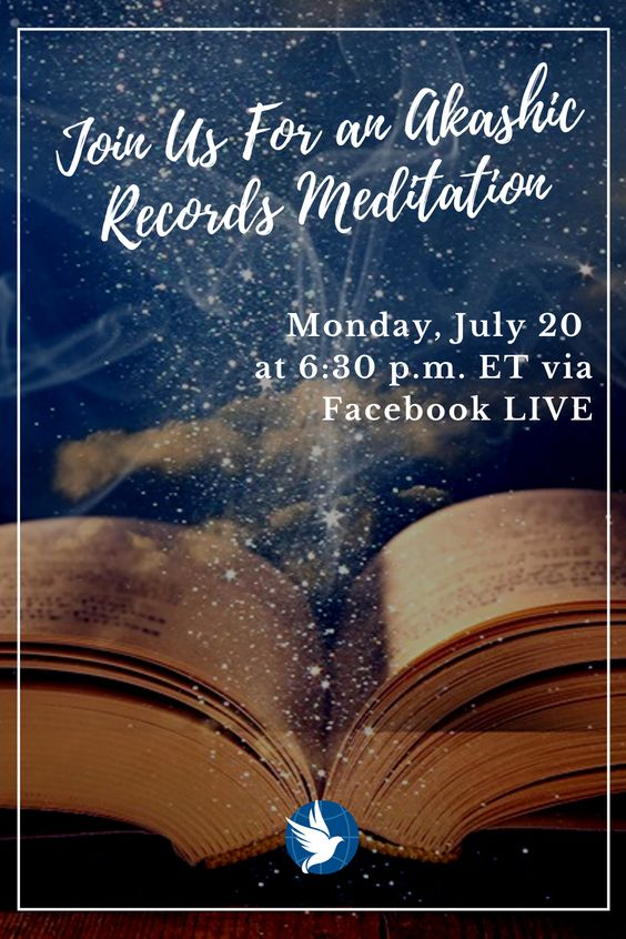 Join us on Monday night at 6:30 p.m. (ET) for our monthly Akashic Records meditation with Kathy Lamm. Come and experience a different meditation and dive deep into your conscious mind, body and soul, to usher in divine guidance, universal support and the resources of the ONE source energy. Join us on our Facebook page for this online guided meditation. Click on the link below to follow the FB event to get a reminder!
