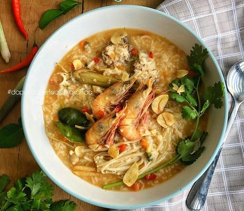 Resepi Bubur Nasi Tom Yam Resep Masakan Resep Masakan