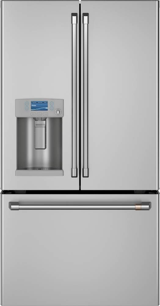 Cafe 27 8 Cu Ft French Door Refrigerator With Hot Water Dispenser Stainless Steel Cfe28tp2ms1 Best Buy In 2020 French Door Refrigerator Hot Water Dispensers French Doors