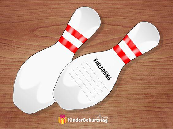 Einladungskarten Bowling Zum Kindergeburtstag Kostenlos Ausdrucken    Basteln   Pinterest   Einladungskarten Zum Ausdrucken, Einladung  Kindergeburtstag Und ...