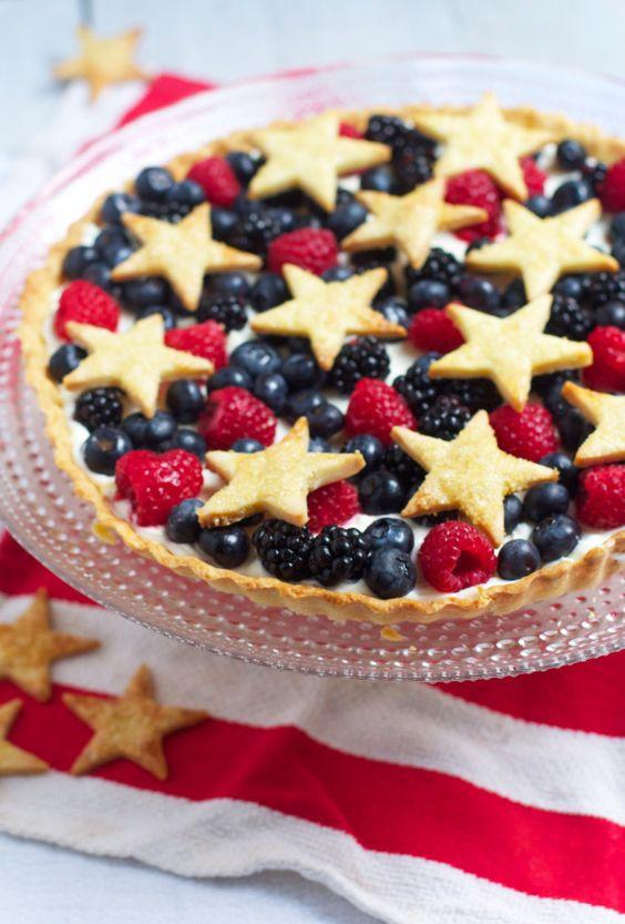 Star Spangled Berry Tart - The Baker Chick