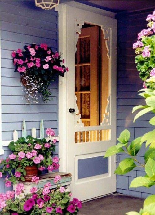 Beautiful all things and the doors on pinterest for Cottage back door