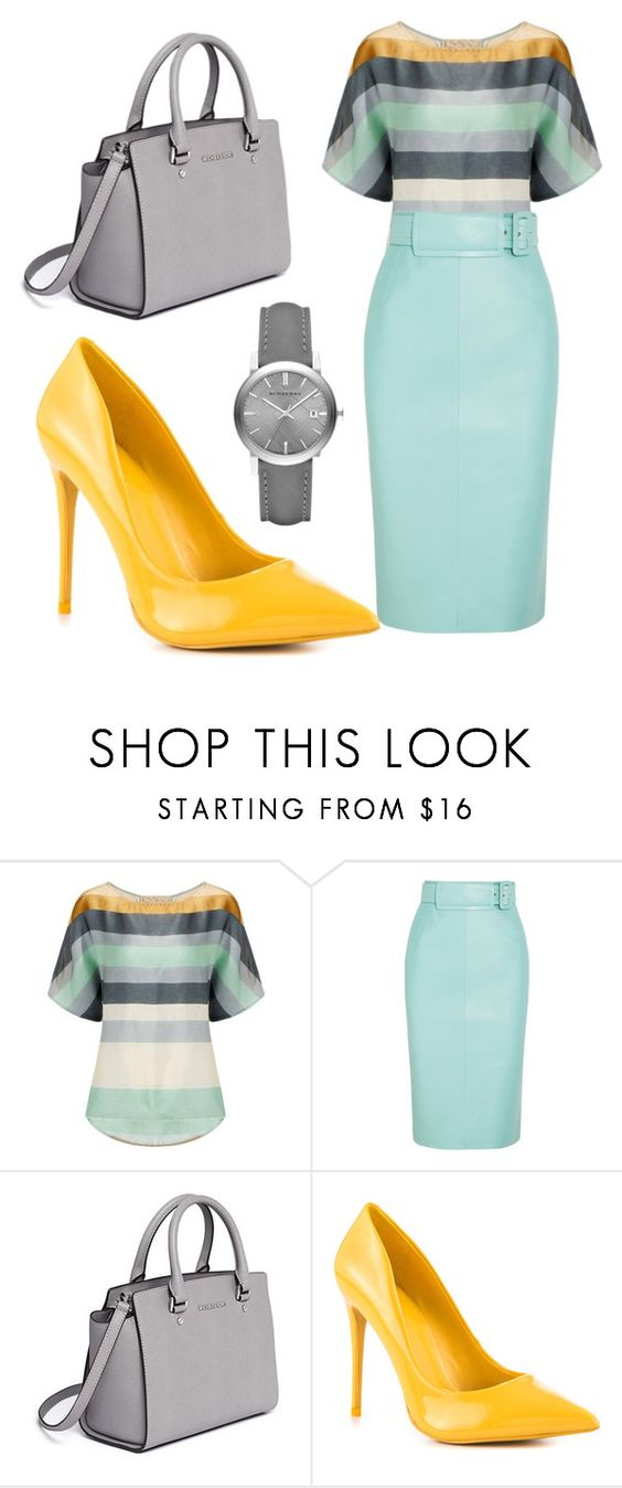 """""""Integral Color"""" by imaonegodapostolic ❤ liked on Polyvore featuring Balenciaga, MICHAEL Michael Kors, ALDO and Burberry"""