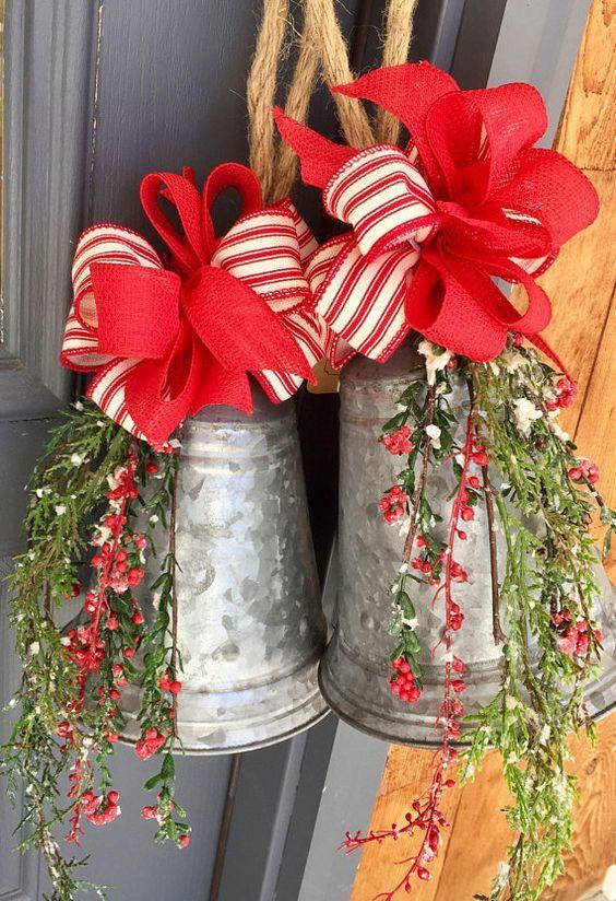 Galvanized Christmas Bells