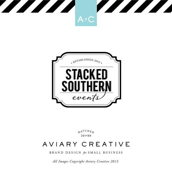 Boutique Premade Logo Design Southern Events By