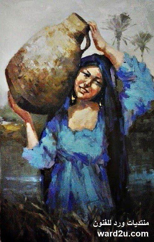 ابداعات الفنان العصامى محمد الازهرى Mohamed Alazhary Egyptian Painting Egyptian Drawings Folk Art Painting