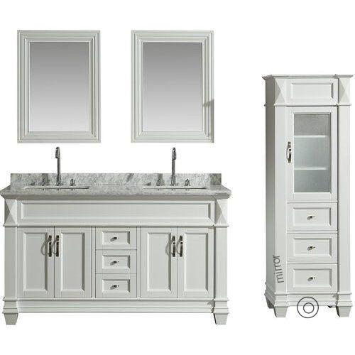 Inch Linen Tower Cabinet, 65 Inch Bathroom Vanity Double Sink