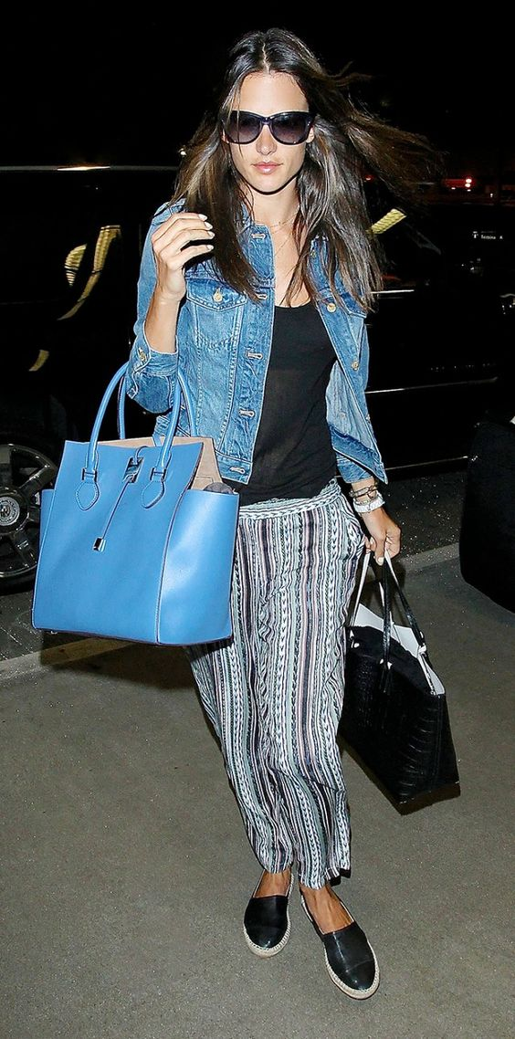 Airport Style: 9 Celebrities With Amazing Shoe Game via @WhoWhatWear