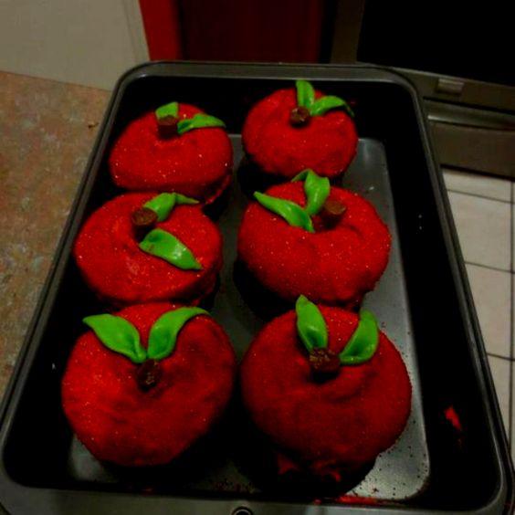 Apple cupcakes for the teachers.