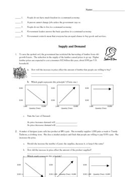 Printables Economics Worksheets economics worksheets to be goods and services opportunity cost