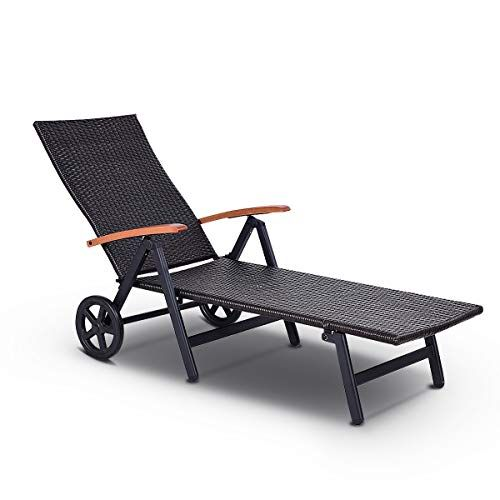 Round Folding Dining Table, Tangkula Wicker Chaise Folding Back Adjustable Aluminum Rattan Lounger Recliner Chair W Wheels Mix Brown Rattan Lounger Lounge Sofa Wooden Lounge Chair