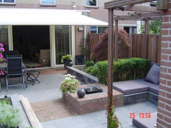 Mooi tuinontwerp voor kleine tuin 30m2 mijn tuin pinterest tuin en veranda 39 s - Voorbeeld van houten pergola ...
