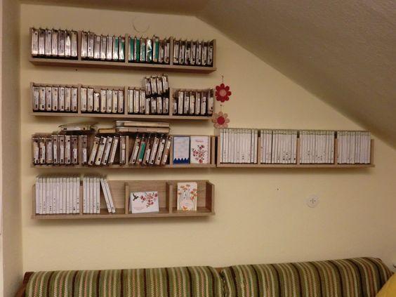 Meine neuen DVD-Regale für meine Stampin Up Stempel
