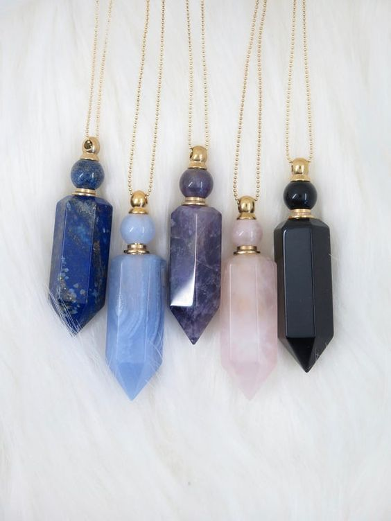 Lapis Lazuli Teardrop Gemstone Pendant Healing Chakra and Reiki Crystal Necklace on a Silver look cable link chain.