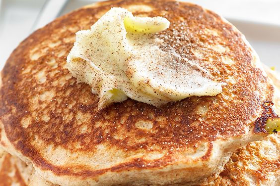 Apple Whole-Wheat Pancakes with Cinnamon Butter made using the ...