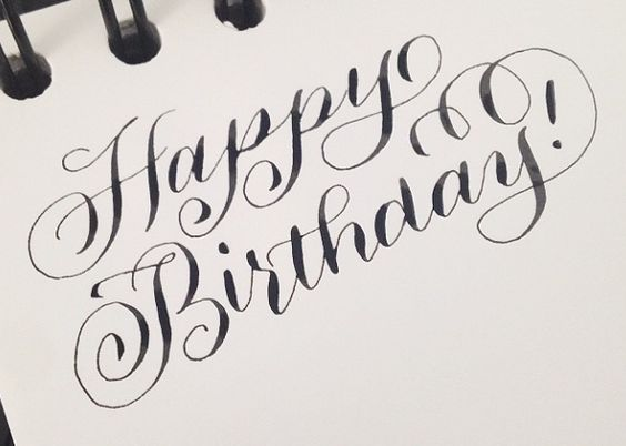 Happy birthday in calligraphy font imgkid the