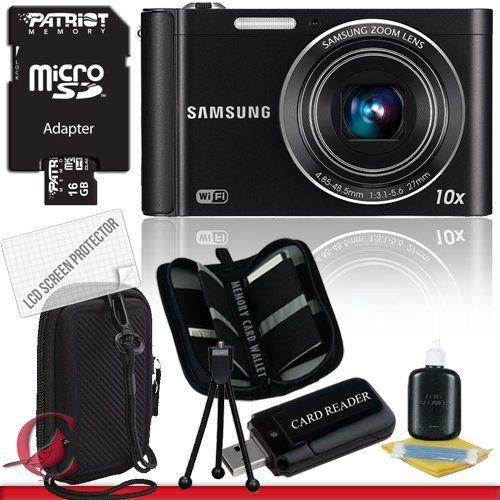 BESTSELLER! Samsung ST200F SMART Long Zoom Digital Camera (Black) 16GB Package 2 $167.99