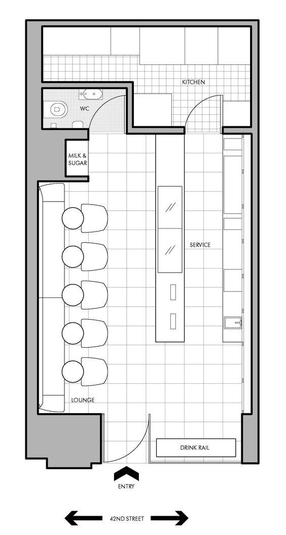 Small cafe new york floor plan sport bar design for Small restaurant floor plan design