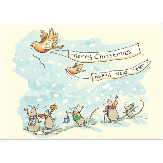 Merry Christmas & Happy New Year by Anita Jeram