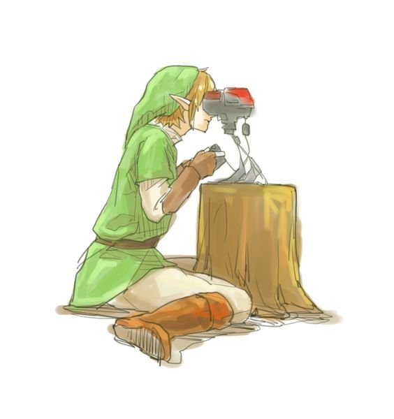 Link playing Virtual Boy - What do you think a Zelda game would have look on this thing?