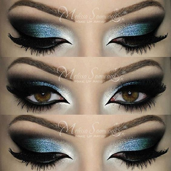 .@makeupbymels | Make Up Azul e Verde - Sobrancelhas - DIPBROW POMADA (cor Blond) da @Jay Burberry... | Webstagram: