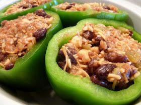 Going to try these this week! Slow Cooker Southwestern Stuffed Peppers