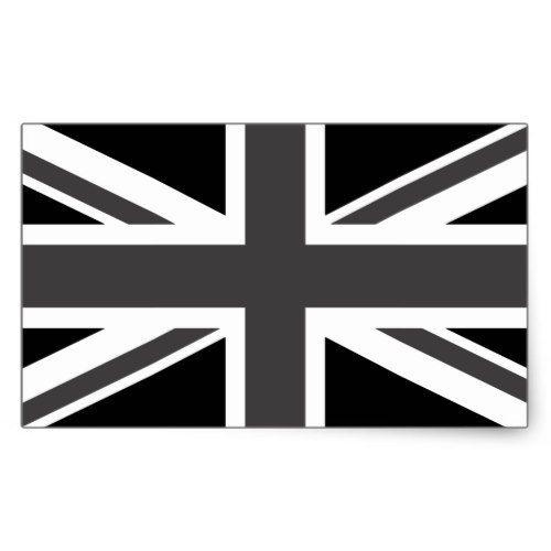 United Kingdom Black Union Jack Rectangular Sticker Zazzle Com Union Jack Tattoo United Kingdom Gifts Union Jack