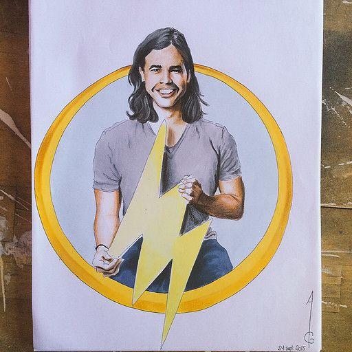 Carlos Valdes Cisco Ramon - Vibe Flash Artwork, drawing, fanart, comics DC comics