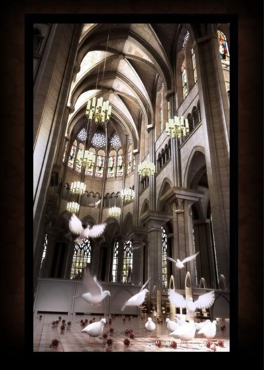 Help me write a scene in a church - challenge?