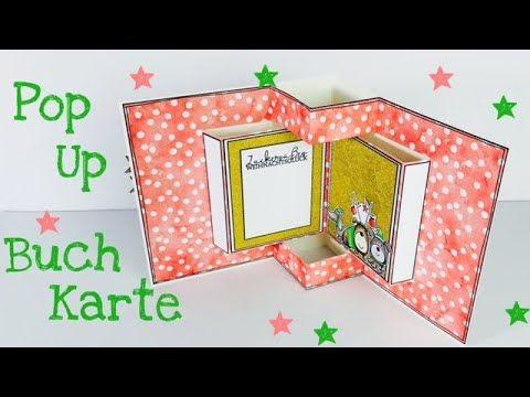 Pop Up Buch Karte Tutorial Deutsch Youtube Mit Bildern