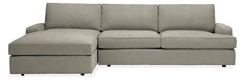 """Levin Sofa with Left-Arm Chaise 115""""  Fabric:Dayne  Color:Cement  Stocked Item  $2,598.00"""