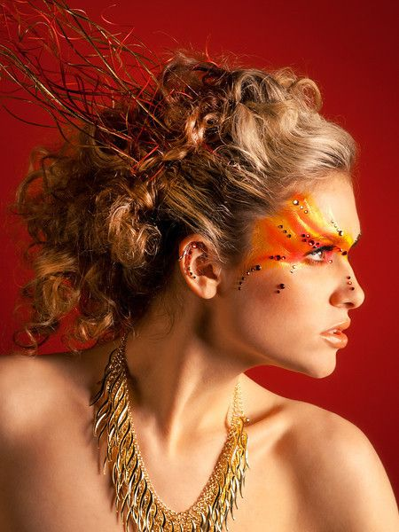 Fire, Models and Fire makeup on Pinterest