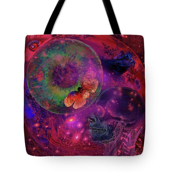Solar Tote Bag featuring the digital art Solar Vision Universe by Joseph Mosley