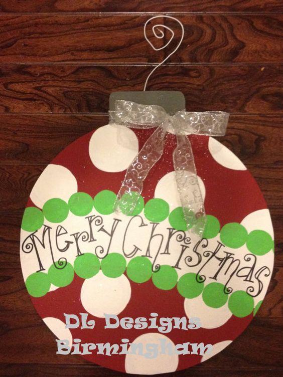 Christmas Ornament Door Hanger on Etsy, $35.00