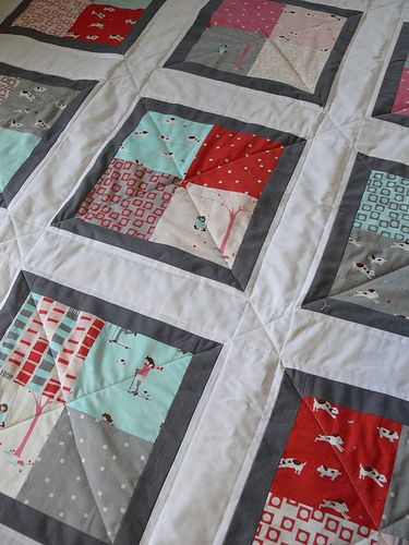 Quilting Grid Patterns : Baby Quilt DIY Tutorial - can be make with a charm pack Quilt Me Up Some Love