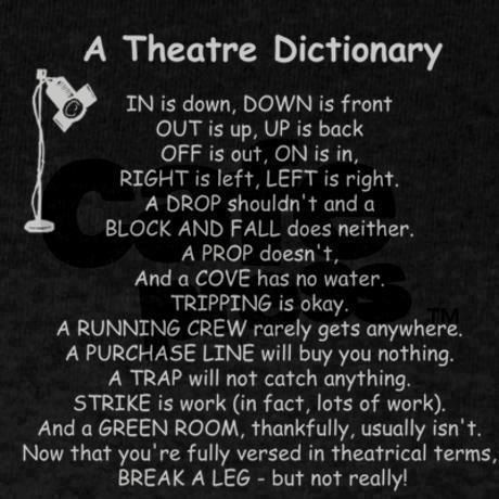 A Theatre Dictionary Dark T-Shirt | Language, So true and ...
