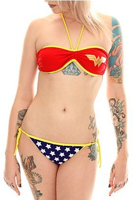 Wonder Woman bikini!  I wants it so bad, but I don't know if the girls would fit.