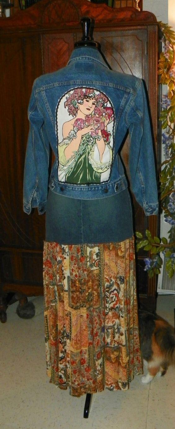 2 04 Ralph Lauren Jeans falda y algodón indio por MoonbeamsCottage