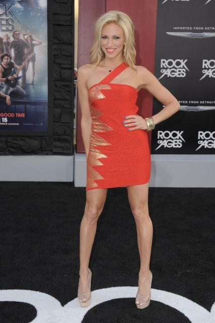 """Debbie Gibson arrives at the """"Rock of Ages"""" premiere at Grauman's Chinese…"""
