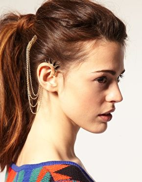 ASOS   ASOS Spike Ear Cuff And Comb at ASOS: