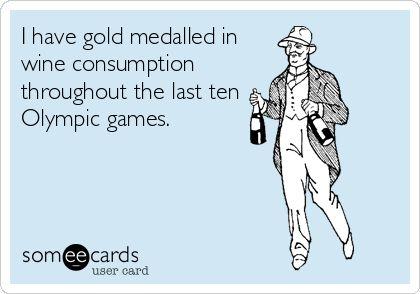 I always look forward to the Olympics.