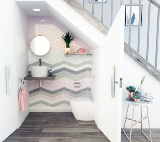 26 Ide Inspiratif Kamar Mandi Minimalis Di Bawah Tangga 1000 Inspirasi Desain Arsitektur Teknologi Bathroom Under Stairs Tiny House Bathroom House Bathroom