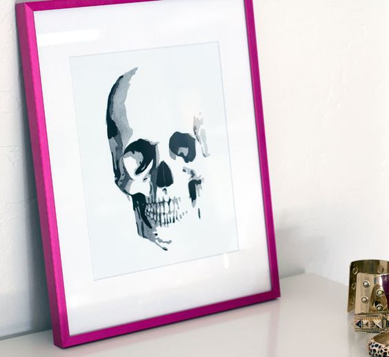 8 x 10 Skull Watercolor Giclee Print by THEAESTATE on Etsy