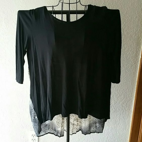 Great shirt for work or play. Black in front and shear multicolored in back. Apt. 9 Tops
