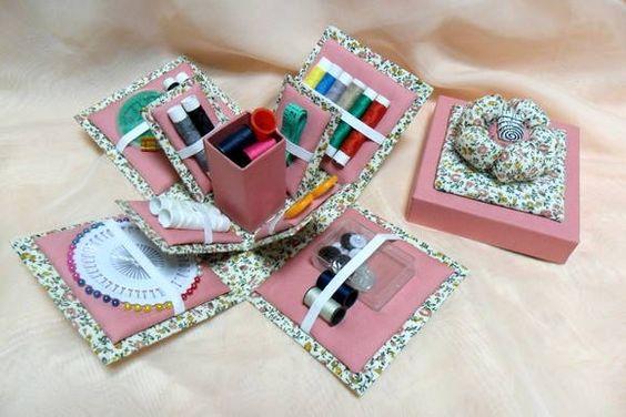Caixa Costura - feita com técnica de cartonagem R$ 50,00
