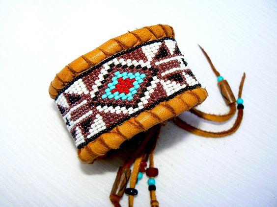Custom Order This Native American Beaded Deerskin Cuff
