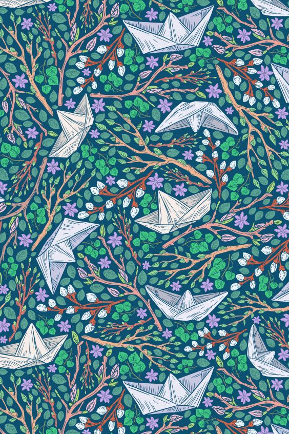 Spring Stories Patterns In 2020 Floral Illustrations Rain Art