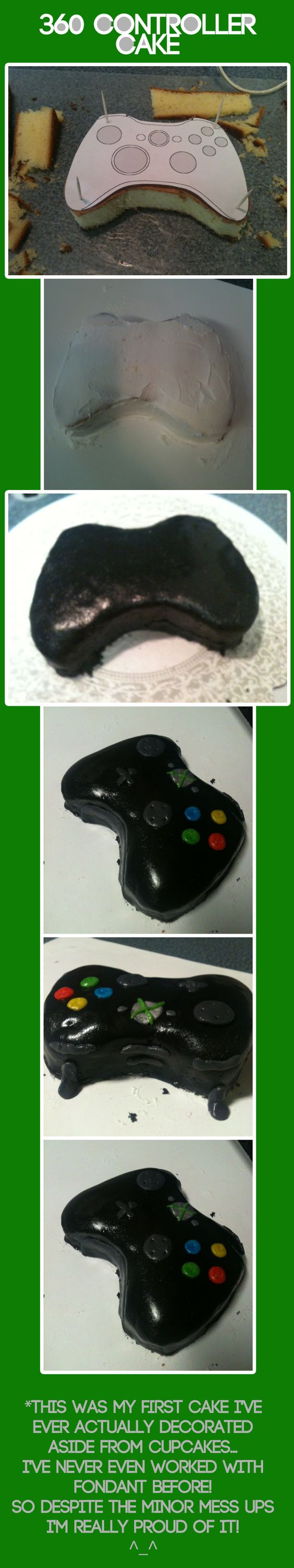 360 controller cake by A-SkyfiOriginal on deviantART A cake I made awhile back... when I could still eat cake... >.>
